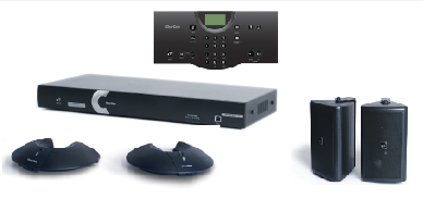 Clear One INTERACT AT Conferencing System - Two Pod / Wired Controller / Wall Mount Speaker System
