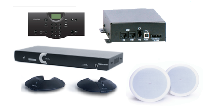 Clear One INTERACT AT Conferencing System - Two Pod / Wireless Controller / Wireless Receiver / Ceiling Mount Speaker System