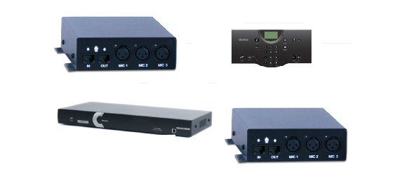 Clear One INTERACT AT Conferencing System - Two 3-Input Mic Box / Wired Controller