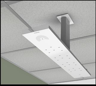 "Ceiling Mounting Kit with 24"" spanner for Clear One Beamforming Microphone Array"