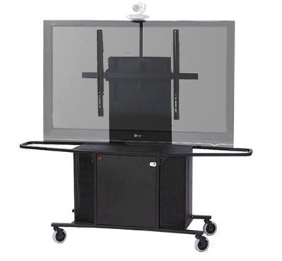 "Video Conference Cart Single Monitor for 50""-90"" Displays"