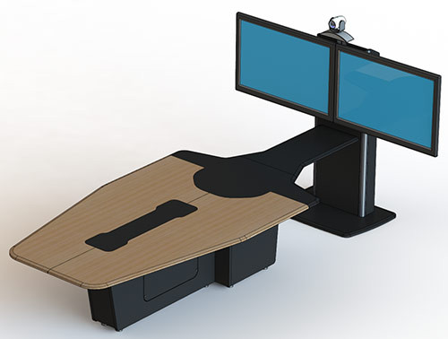 T3500 T1 Video Conference Table (Table and Monitor Stand)