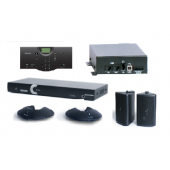 Clear One INTERACT AT Conferencing System - Two Pod / Wireless Controller / Wireless Receiver / Wall Mount Speaker System