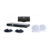 Clear One INTERACT AT Conferencing System - Two Pod / Wired Controller / Ceiling Mount Speaker System