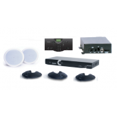 Clear One INTERACT AT Conferencing System - Three Pod / Wireless Controller / Wireless Receiver / Ceiling Mount Speaker System
