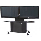 "Video Conference Cart Dual Monitor for 60""-80"" Displays"