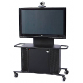"Video Conference Cart Single Monitor for 40""-80"" Displays"