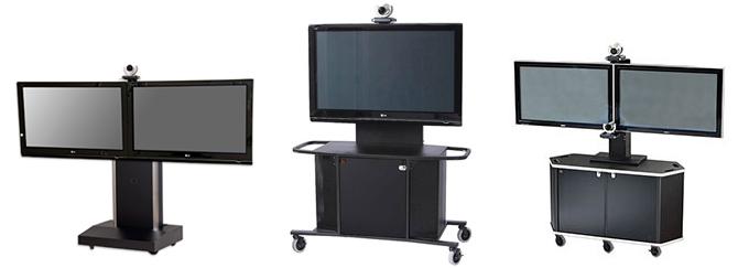 VFI MC1000-D Dual Monitor Metal Cart Package K or L